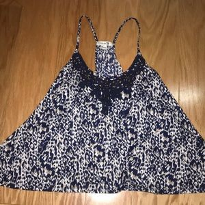 Forever 21 Beaded Printed Tank, Size S